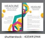 abstract vector modern flyers... | Shutterstock .eps vector #435491944