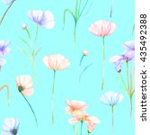 a seamless floral pattern with... | Shutterstock . vector #435492388