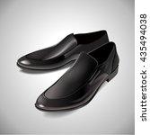black men's glossy patent...