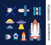 rocket and space ships | Shutterstock .eps vector #435498526