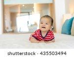 portrait of a newborn asian... | Shutterstock . vector #435503494