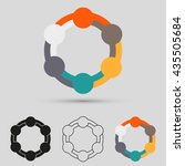 teamwork logo  symbol group | Shutterstock .eps vector #435505684