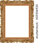 gold photo frame with corner... | Shutterstock .eps vector #435506920
