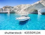 sailboat in a beautiful bay ... | Shutterstock . vector #435509134
