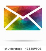 mail poly icon | Shutterstock .eps vector #435509908