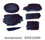watercolor abstract black... | Shutterstock . vector #435511900