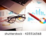 data analyzing in trading... | Shutterstock . vector #435516568