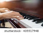 close up of young girls hands ... | Shutterstock . vector #435517948
