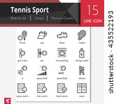 tennis sport elements vector... | Shutterstock .eps vector #435522193