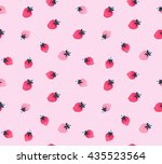 vector strawberry background.... | Shutterstock .eps vector #435523564