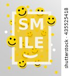 smiley faces design elements.... | Shutterstock .eps vector #435525418