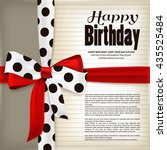happy birthday greeting card.... | Shutterstock .eps vector #435525484