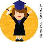 graduate student  master...   Shutterstock .eps vector #435525949