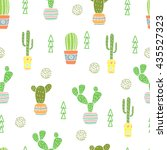 seamless pattern with doodle... | Shutterstock .eps vector #435527323