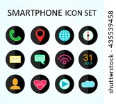 web icon set for smartphone ... | Shutterstock . vector #435539458