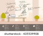 office in the business centre | Shutterstock .eps vector #435539908