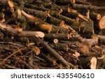 pile of firewood. preparation... | Shutterstock . vector #435540610