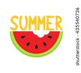 summer watermelon treat in... | Shutterstock .eps vector #435540736