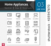 home appliances vector black... | Shutterstock .eps vector #435547870