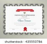 certificate design template.... | Shutterstock .eps vector #435553786