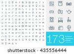 173 line icons for furniture, appliances and kitchen. Big set of professional line icons | Shutterstock vector #435556444