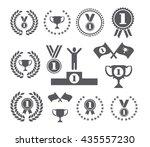 winner symbols cup podium medal ... | Shutterstock .eps vector #435557230