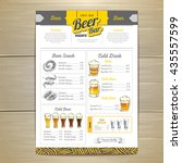 vintage beer menu design.  | Shutterstock .eps vector #435557599