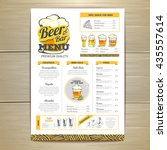 vintage beer menu design.  | Shutterstock .eps vector #435557614