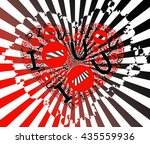 geometric lines background with ...   Shutterstock .eps vector #435559936