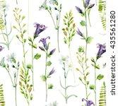 Watercolor Meadow Flowers...
