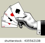 Hand With Ace Playing Cards Fa...