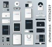 mock up vector set. | Shutterstock .eps vector #435562819