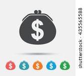 wallet dollar sign icon. cash... | Shutterstock .eps vector #435565588