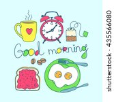 good morning colorful objects.... | Shutterstock .eps vector #435566080