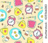 seamless pattern with good... | Shutterstock .eps vector #435566083
