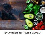 fresh organic ingredients for... | Shutterstock . vector #435566980