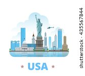 usa united states country... | Shutterstock .eps vector #435567844