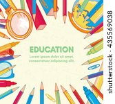 education background back to... | Shutterstock .eps vector #435569038