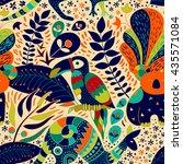 bright seamless pattern. yellow ... | Shutterstock .eps vector #435571084