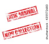 new arrival stamp of red grunge ... | Shutterstock .eps vector #435572683
