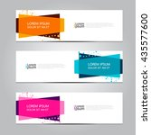 vector design banner background. | Shutterstock .eps vector #435577600