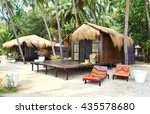 Shacks On The Beach. Goa  India