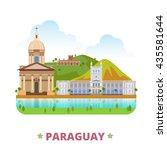 paraguay country flat cartoon... | Shutterstock .eps vector #435581644
