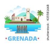 grenada country design flat... | Shutterstock .eps vector #435581668