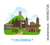 colombia country design... | Shutterstock .eps vector #435581728