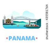 panama country flat cartoon... | Shutterstock .eps vector #435581764