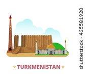 turkmenistan country design... | Shutterstock .eps vector #435581920