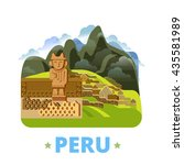 peru country design template.... | Shutterstock .eps vector #435581989
