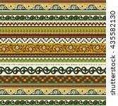 geometric ethnic ornament...   Shutterstock .eps vector #435582130