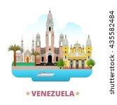 Постер, плакат: Venezuela country flat cartoon